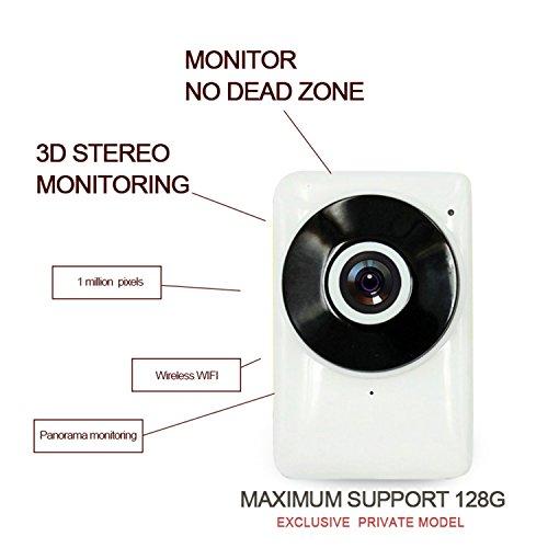 HD 1MP 720P Cámara IP, visión nocturna por infrarrojos, Video Vigilancia, dos manera Audio, seguridad inalámbrica de vigilancia Apoyo Micro 128G SD/TF tarjeta para hogar y oficina seguridad