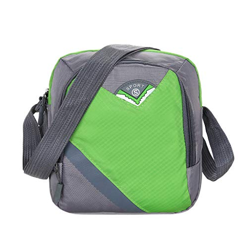 Unisex Shoulder Bag Sports Bag Large Capacity Crossbody Bag Waterproof Sport Vertical Style Small Fan Color Block Nylon Mobile Phone Bag Large Storage Space Portable and Practical