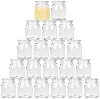 Exelcius® - 150ML Yogurt Jars Pudding Jar with Lid Replacement Glass Jars for Yogurt Maker and Milk, Parfait   Gift for Fa...