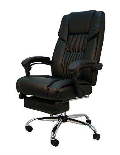Die spanische Stuhl PONTEVEDRA Bürostuhl, Kunstleder, Schwarz, 64x 67x 124cm