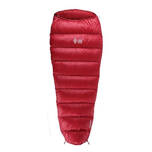 SSG Home Durable et Beau Sac de Couchage Outdoor Voyage Camping Bas DWR Tissu épais Chaud Adulte Voyage imperméable intérieur Respirant Portable Simple Confortable et Portable (Color : A, Size : M)