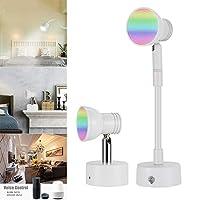 WiFiスマートウォールライト、WIFIスマートウォールランプを変更する調光可能な色、Amazon AlexaおよびGoogle Homeによるリモコンおよび音声制御,a