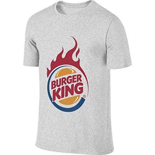 Men Personalized Fashion tee Shirt Funny Burger King Logo T Shirts Camisetas y Tops(Small)