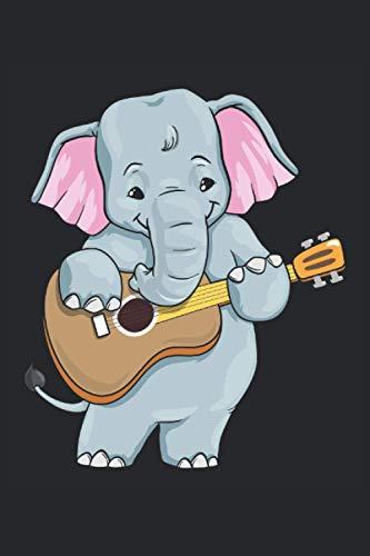 Notenheft, 120 Seiten: Elefant - Notenheft - Notenblätter für Gitarre, Klavier, Keyboard oder Flöte - Kinder und Erwachsene - Anfänger oder Profis - 6x9 Zoll (Ähnlich DIN A5)