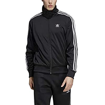 adidas Originals Men's Firebird Track Top, Black, L by ADIJI