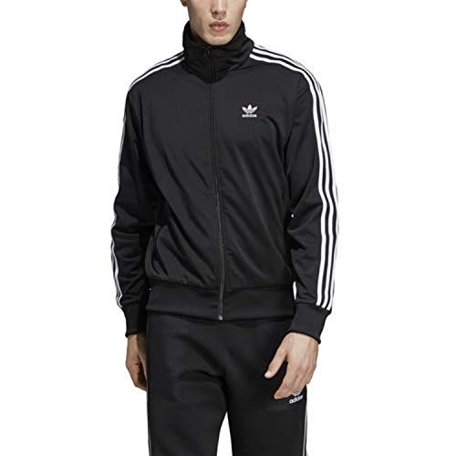 adidas Originals Men's Firebird Track Top, Black, 2XL