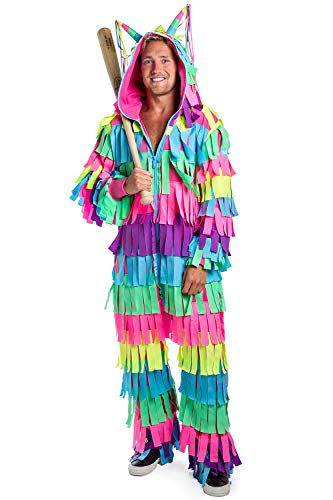 Tipsy Elves' Men's Pinata Costume – Bright Colorful Halloween Jumpsuit XX-Large