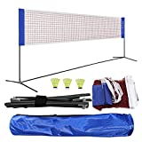WZCXYX Tenis Portable Net Badminton Net Voleleyball Net Configure Easy Tenning Tenning Tool para Entrenar Deportes Al Aire Libre Interior(Size:4.1m)