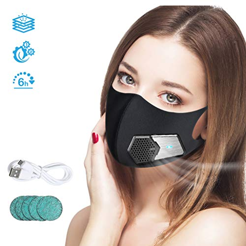 YA Inteligente Protector Facial eléctrico, Negro Filtro de purificado