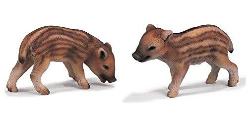 Schleich - Set - 2 Stck : 14335 Frischling grasend + 14336 Frischling stehend - Schleich World of Nature - Wild Life - Wildschwein - Waldtiere