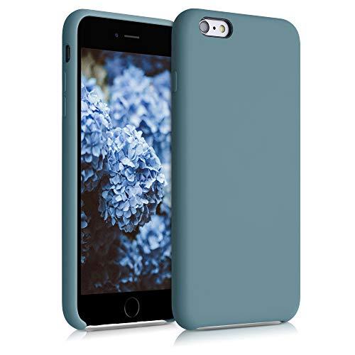 kwmobile Cover per Apple iPhone 6 Plus / 6S Plus - Custodia in Silicone TPU - Back Case Protezione Cellulare Blu Ghiaccio