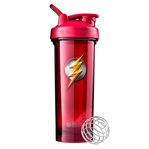 BlenderBottle Justice League Shaker Bottle Pro Series Perfect for Protein Shakes and Pre Workout, 32-Ounce, Flash