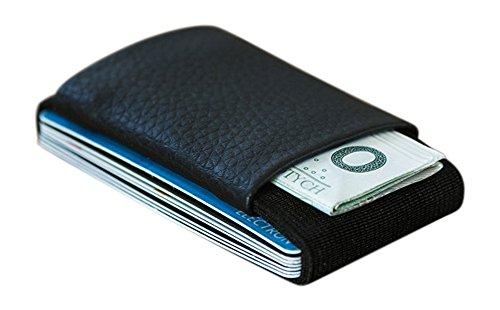 Elephant Wallet LR Mini Geldbörse kleines Portemonnaie small Portmonee Minimalisten Kartenhalter präsentiert von becoda24 in versch. Farben (Schwarz)