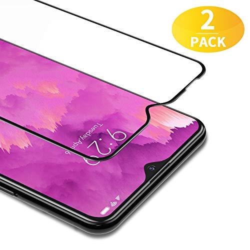 BANNIO Vetro Temperato per Xiaomi Redmi 8 / Xiaomi Redmi 8A,2 Pezzi Full Screen Pellicola Protettiva per Xiaomi Redmi 8 / Redmi 8A,Copertura Totale Protezione Schermo,Nessuna Bolla,Anti-Impronte,Nero