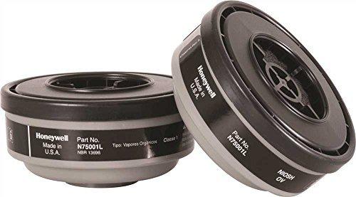 North by Honeywell N75001L Gas and Vapor Cartridges, Cartridge/Filter, Organic Vapor, 1