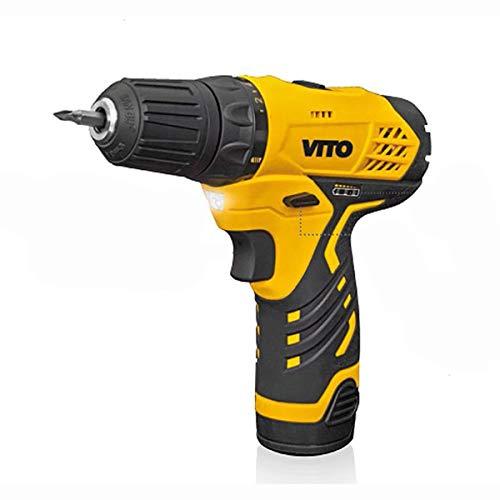 Vito 12Volt Akkuschrauber, 2.0Ah Li-Ion-Akku + Zubehör & LED - 7