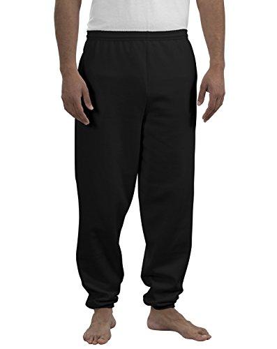 Port & Company® - Essential Fleece Sweatpant with Pockets. PC90P Jet Black L