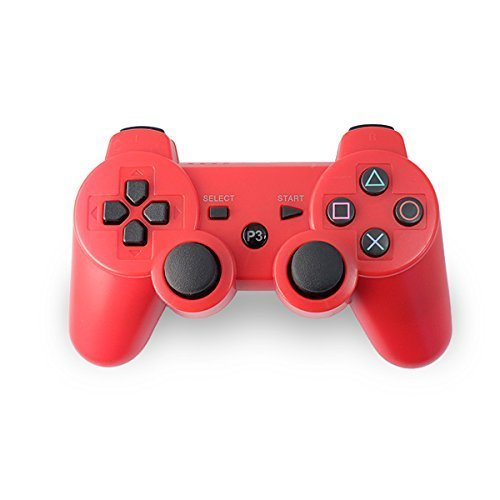 AMGGLOBAL® Portable Wireless Rechargable Bluetooth Gamepad Remote Joystick Controller Gamepad For Playstation 3 PS3 PINK