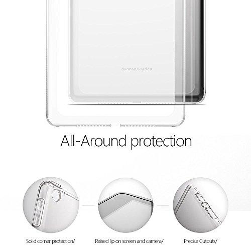 Gosento Huawei MediaPad M5 (8,4 Zoll) Hülle TPU Case, Soft Premium Flex Silikon Backcover Ultra Dünn Clear Semi-transparent Schutzhülle Tablet Cover für MediaPad M5 8.4 (Matt transparent)EINWEG - 2