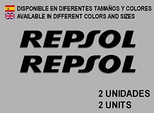 Ecoshirt 8D-1XSH-TAUN Aufkleber Stickers Repsol F09 Aufkleber Decals Autocollants Adesivi, schwarz