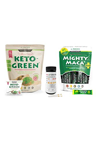 Keto Green Protein Shake - Chocolate Ketogenic Protein Powder Drink, Lactose Free Vegan Protein, Supports Gastrointestinal Health, by Dr Anna Cabeca (Keto Green 16 Book Bundle) 1