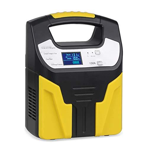 Z&LEI Cargador de batería de Plomo-ácido 10A 220V, 12V 24V Smart Fast Charging Totalmente automático Cargador de automóviles Cargador de batería de automóvil Pantalla LCD,Amarillo
