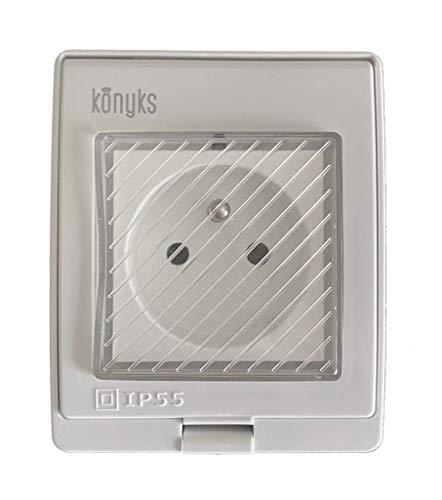 Konyks Pluviose, prise extérieure connectée WiFi, IP 55, contrôle vocal avec Alexa...