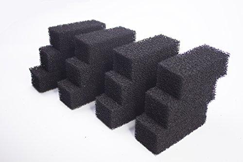LTWHOME Compatible en Mousse Carbonée Moyen Filtre Convient pour Tetra CF 400/600 Plus (Paquet de 12)
