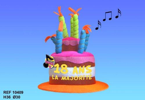 Chapeau Musical 18 ans - Taille Unique