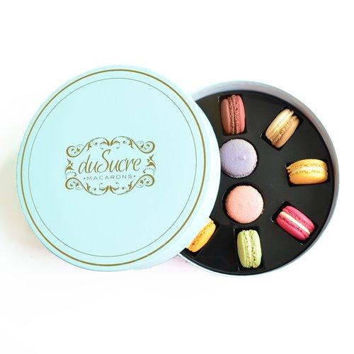 kleine Geschenkbox - 10 handgefertigte Macarons