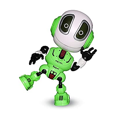 M AOMEIQI Mini Talking Robot Toy Interactive Voice Changer Adjustable Metal Body Speaking Robot Travel Toy for Kids