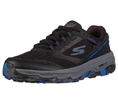 Skechers Men's GOrun Altitude-Trail Running Walking Hiking Shoe Sneaker with Air Cooled Foam, Black/Blue, 10.5 X-Wide