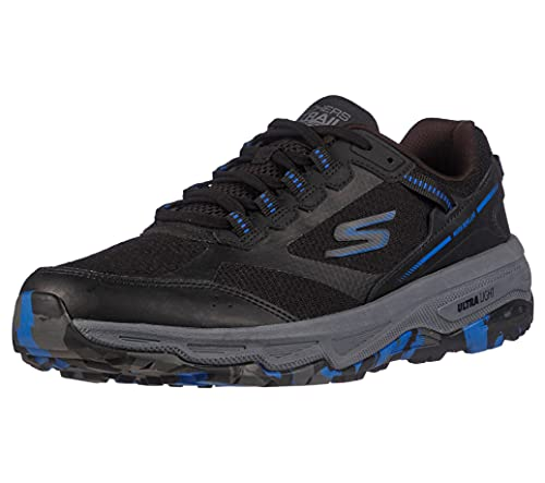 Skechers GOrun Altitude-Trail - Tenis para Correr y Caminar con Espuma refrigerada por Aire, Negro/Azul, 7 US