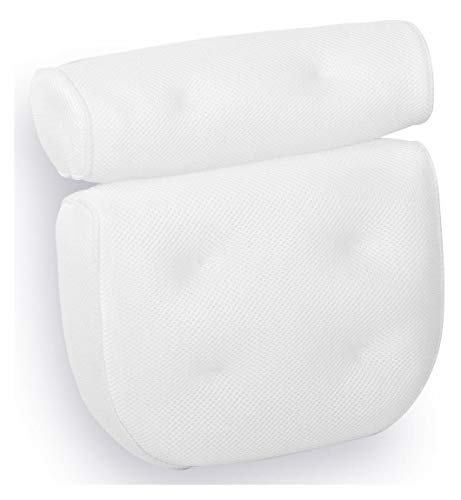 Royal Casa Bath Pillow – Non Slip, Luxury Bathtub Pillow for Your Head & Neck. Anti-Mold & Waterproof. This Spa Cushion has 6 Extra Large Suction Cups to Guarantee The Best Relaxing Experience