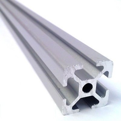 Aluminium Stangenprofil Item 20x20, Länge 1000mm, Natur eloxiert