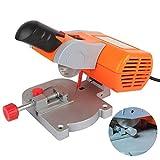 Ezeruier Mini macchina da taglio elettrica da tavolo, troncatrice per lavorazione ad alta precisione, sega industriale per lavorazione, con lama da taglio in acciaio da 50 mm, utilizzata per la lavora