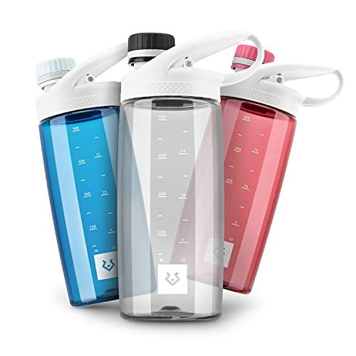 Alphatrail Botella Agua Tritan Luke 550ml Negro 100% Prueba de Fugas I sin BPA & Ecológicamente I Seguro Lavavajillas I para el ácido de Carbono I para una óptima hidratación en la Naturaleza
