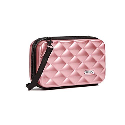 Kosmetiktasche Mini-Koffer tragbare Reisetasche Make-up Organizer Kulturbeutel Wasserdicht für Damen und Mädchen