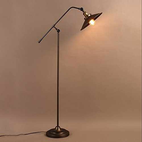 Edge to vloerlamp vintage ijzeren kunst staande lamp, Amerikaanse stijl dorp industriële vloerlamp woonkamer slaapkamer studie café decoratie tafellamp