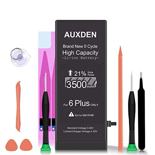 AUXDEN 3500mAh Batería Compatible para iPhone 6 Plus de Alta Capacidad 0 Ciclo con Kits de Herramientas de reparación, Cinta Adhesiva