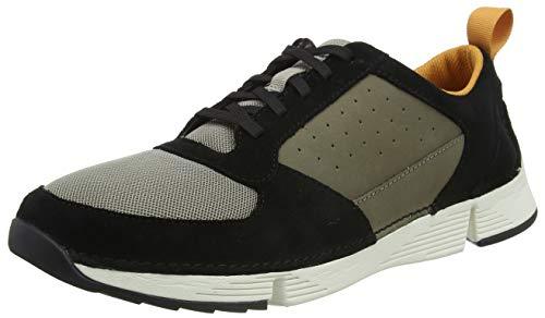 Clarks Tri Sprint, Sneakers Basses Homme, Beige (Sage Combi Sage Combi), 44 EU