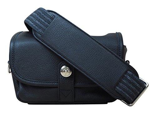 Oberwerth Kameratasche Charlie Echtleder schwarz Kompaktkamera Systemkamera Leder Umhängetasche Fotoapparat Objektiv Gürteltasche
