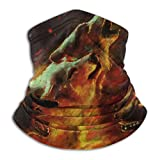 Fire Wolves Flame Wolf Abstract Vintage Animal Drawing Balaclavas Neck Warmer Outdoor Sun Neck Gaiter Men's Balaclavas Scarf for Fishing