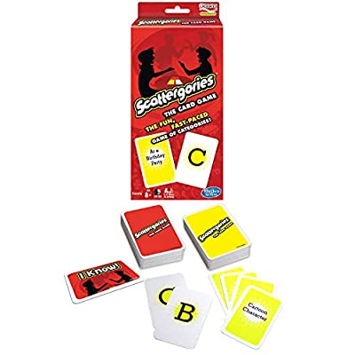 Scattergories The Card Game Your Favorite Categories Game Meets Slap Jack For At Home, On a Road Trip, or Vacation 2 or More Players Ages 8 and Up