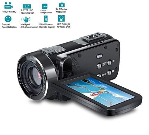 Affordable WXJHA Handheld Video Camera HD 4K 1080P Video Camera DV Professional Night Vision Anti-Sh...