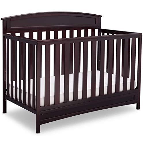 Delta Children Sutton 4-in-1 Convertible Crib, Greenguard Gold Certified - Espresso Java
