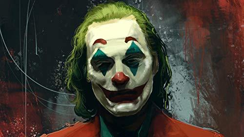 Poster di Joker DC Diamante Pintura Kits, DIY 5D Punto de Cruz Diamante Principiante, Diamante Craft Decoración de la pared del Hogar regalo de cumpleaños (H-40 cm x M/B-60 cm)