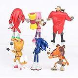 Juguetes Sonic Set de 6 Super Sonic, Sonic Kid, Super Sonic Hedgehog, Hedgehog, Muñecas, Decoracione...