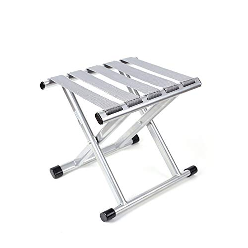 YYZZ Taburete Plegable para Exteriores, Taburete Plegable de Aluminio para Camping, Taburete Compacto para Camping (32 x 27,5 x 24 cm)(Size:Grande)