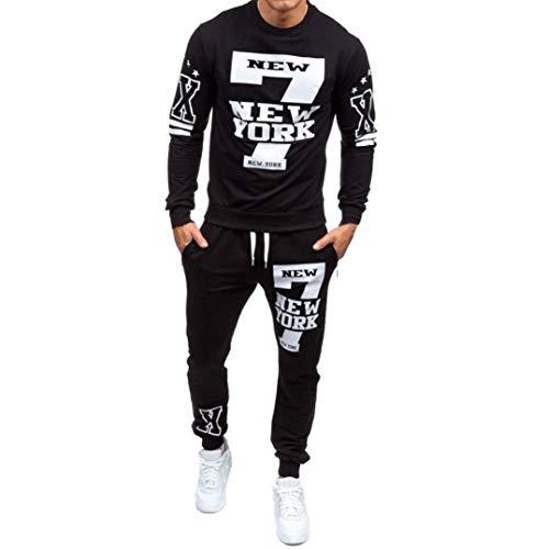 Top Pantalon Ensembles Homme Automne Hiver Imprimé Survêtement de survêtement de Sport Malloom